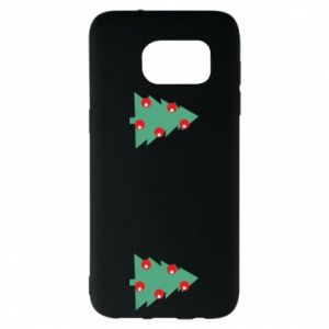 Samsung S7 EDGE Case Christmas trees on the chest