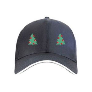 Cap Christmas trees on the chest
