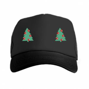 Trucker hat Christmas trees on the chest