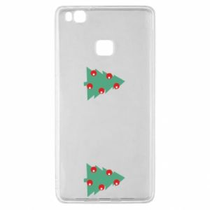 Huawei P9 Lite Case Christmas trees on the chest