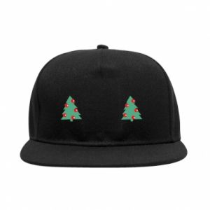 SnapBack Christmas trees on the chest
