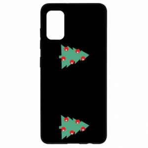 Samsung A41 Case Christmas trees on the chest