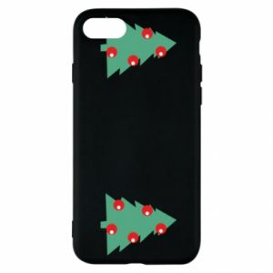 iPhone SE 2020 Case Christmas trees on the chest