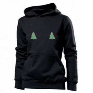 Women's hoodies Christmas trees on the chest