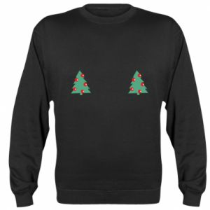 Sweatshirt Christmas trees on the chest