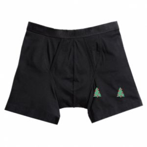 Boxer trunks Christmas trees on the chest