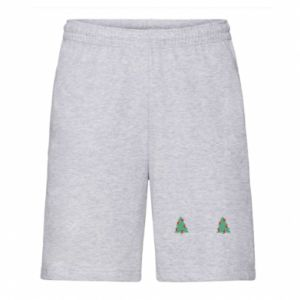 Men's shorts Christmas trees on the chest