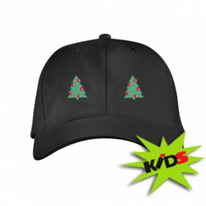Kids' cap Christmas trees on the chest