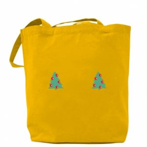 Bag Christmas trees on the chest