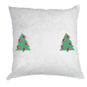 Pillow Christmas trees on the chest