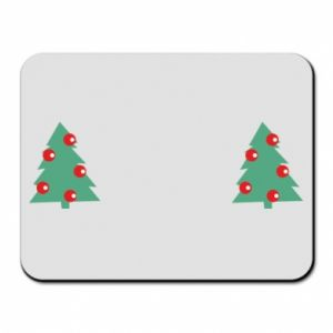 Mouse pad Christmas trees on the chest