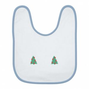 Bib Christmas trees on the chest