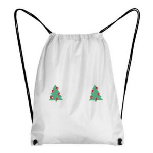 Backpack-bag Christmas trees on the chest