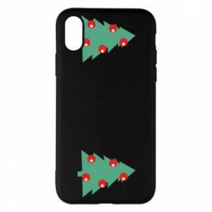 iPhone X/Xs Case Christmas trees on the chest