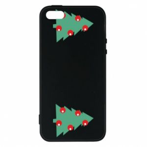 iPhone 5/5S/SE Case Christmas trees on the chest