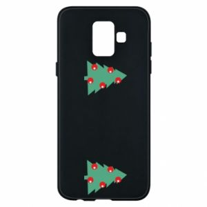 Samsung A6 2018 Case Christmas trees on the chest