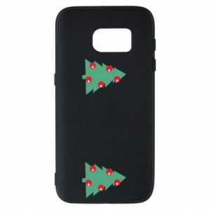 Samsung S7 Case Christmas trees on the chest