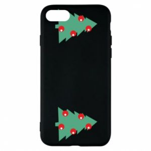 iPhone 8 Case Christmas trees on the chest