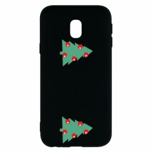 Samsung J3 2017 Case Christmas trees on the chest
