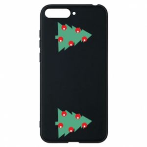 Huawei Y6 2018 Case Christmas trees on the chest