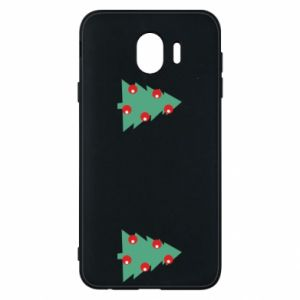 Samsung J4 Case Christmas trees on the chest