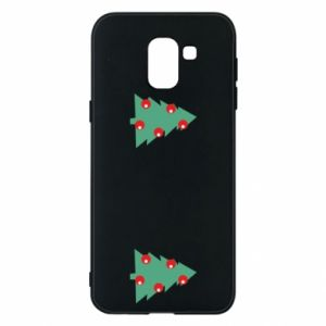 Samsung J6 Case Christmas trees on the chest