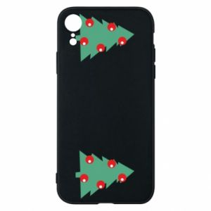 iPhone XR Case Christmas trees on the chest