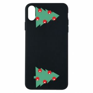 iPhone Xs Max Case Christmas trees on the chest