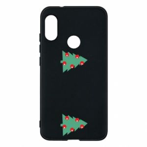 Mi A2 Lite Case Christmas trees on the chest