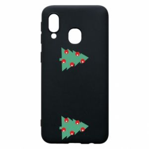 Samsung A40 Case Christmas trees on the chest