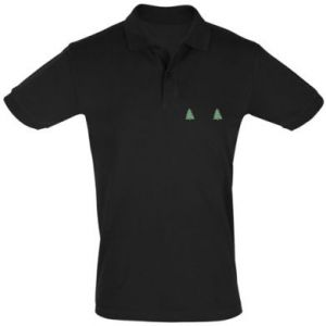 Men's Polo shirt Christmas trees on the chest