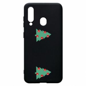 Samsung A60 Case Christmas trees on the chest