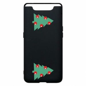 Samsung A80 Case Christmas trees on the chest