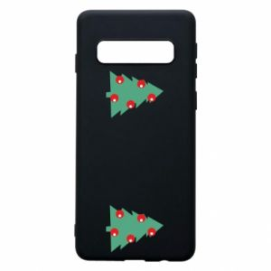 Samsung S10 Case Christmas trees on the chest