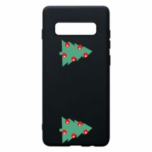 Samsung S10+ Case Christmas trees on the chest