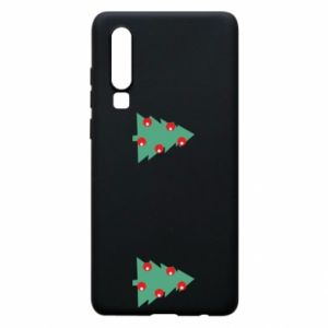 Huawei P30 Case Christmas trees on the chest