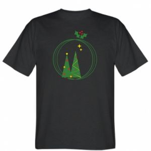 T-shirt Christmas trees in a wreath