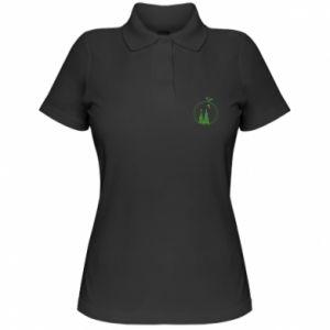 Koszulka polo damska Choinki w wieniec