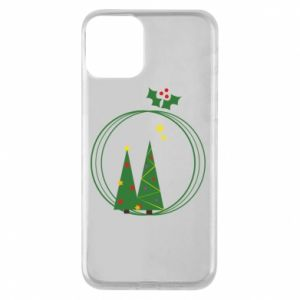 iPhone 11 Case Christmas trees in a wreath