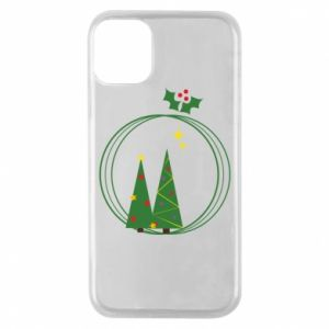 Phone case for iPhone 11 Pro Christmas trees in a wreath
