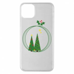 Phone case for iPhone 11 Pro Max Christmas trees in a wreath