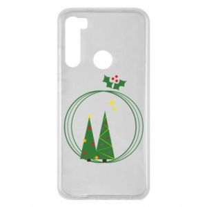 Xiaomi Redmi Note 8 Case Christmas trees in a wreath