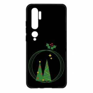 Xiaomi Mi Note 10 Case Christmas trees in a wreath