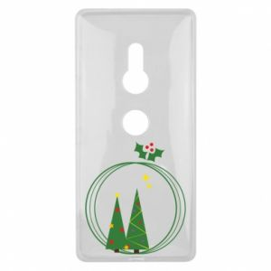 Sony Xperia XZ2 Case Christmas trees in a wreath