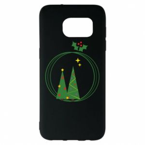 Samsung S7 EDGE Case Christmas trees in a wreath
