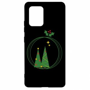 Samsung S10 Lite Case Christmas trees in a wreath