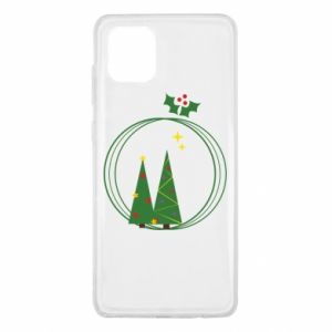Samsung Note 10 Lite Case Christmas trees in a wreath