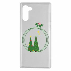 Samsung Note 10 Case Christmas trees in a wreath
