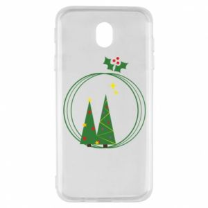 Samsung J7 2017 Case Christmas trees in a wreath