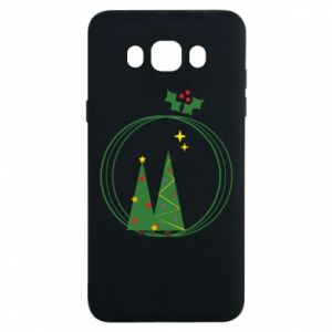 Samsung J7 2016 Case Christmas trees in a wreath